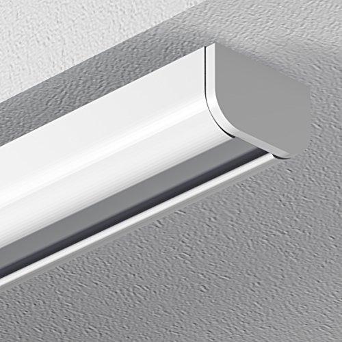 GARDUNA 150cm Schleuderschiene Gardinenschiene Vorhangschiene, Aluminium, weiss, glatte, glänzende Oberfläche, 1-läufig