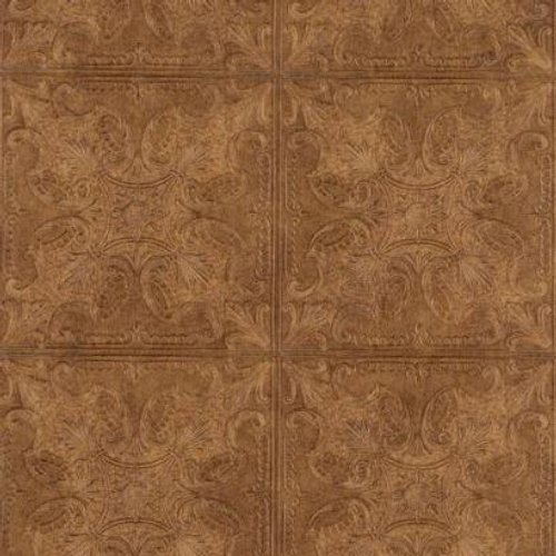 33' Victorian Tool - York Wallcoverings PA131206 Weathered Finishes Tin Tile Wallpaper, Midnight Black/Charcoal/Silver
