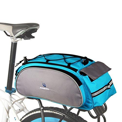 ROSWHEEL 13L Fahrrad Sattel Rückseite Sitz Rack Tasche mit Gummizug am Top für Outdoor Ausreit Reisen Blau
