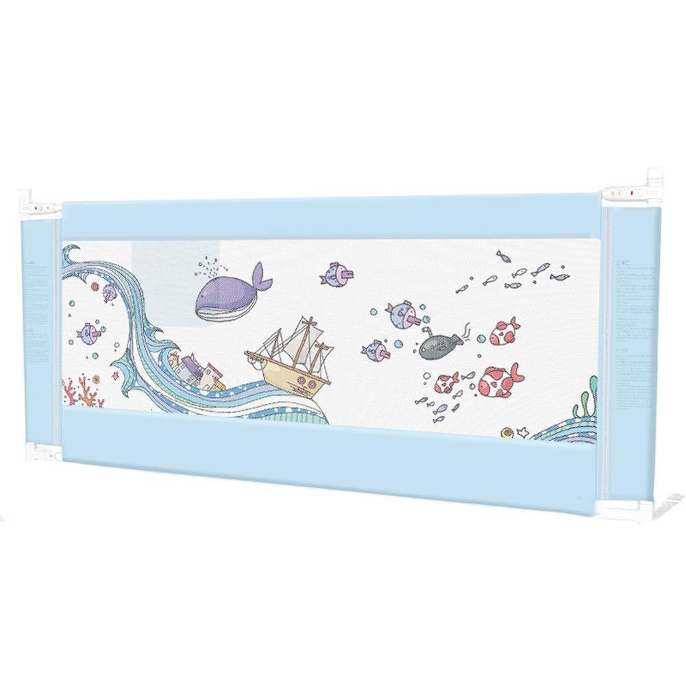 ベッドレール 赤ちゃんの安全のための幼児用ベッドレール、ぬいぐるみ付き漫画ベッドサイドガード、縦型リフトベビーバンパー (サイズ さいず : 180cm×100cm) 180cm×100cm  B07L5LMN63