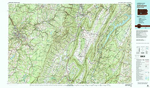 Johnstown Pa Topo Map  1 100000 Scale  30 X 60 Minute  Historical  1981  Updated 1983  24 1 X 40 9 In   Paper