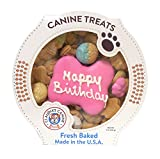 Claudia's Canine Bakery Peanut Butter Dog Cookies, 10-Ounce, Happy Birthday, Pink
