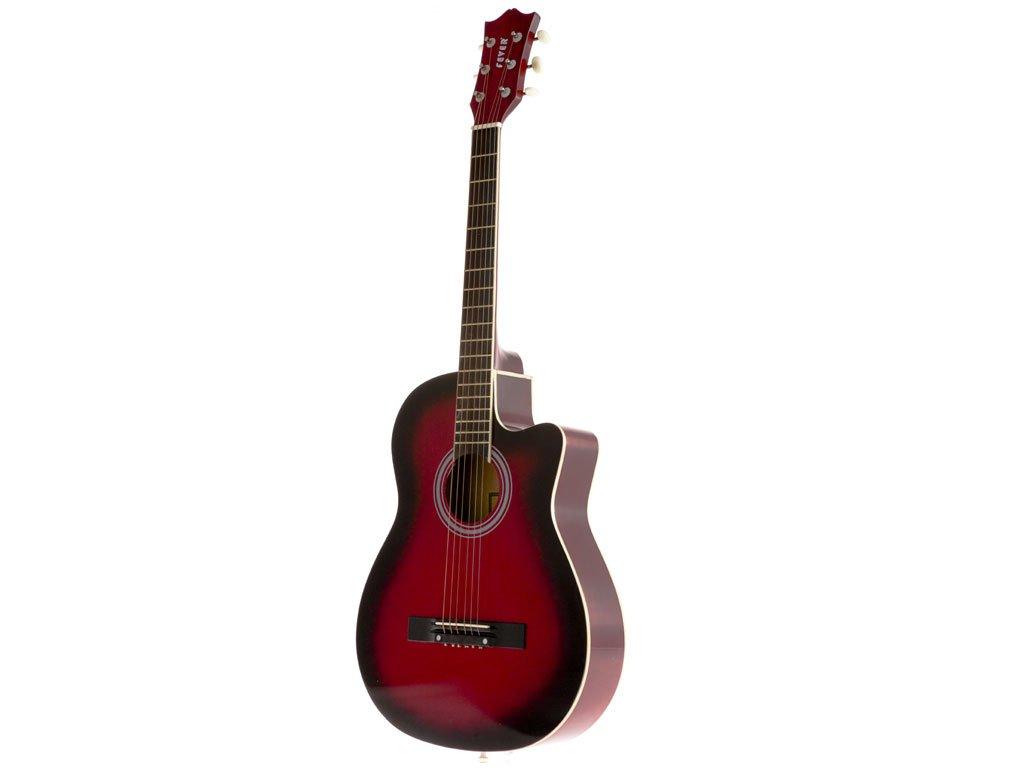 Fever フィーバー FV-030C-DRD 3/4 38-Inch Acoustic Cutaway Guitar, Redburst アコースティックギター アコギ ギター (並行輸入)   B004NFPXGO