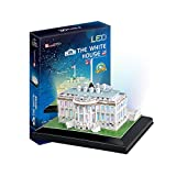 models of white house - The White House LED Light Collectible Fun Educational 3D Assembly Puzzle Model Toy 56 pieces