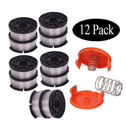- Newjinda[12 Pack]Line String Trimmer Replacement Spool, 30ft 0.065