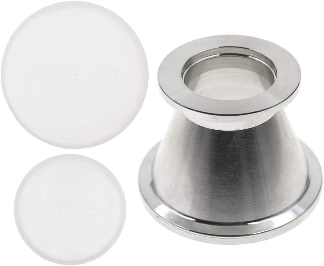 Carbhub KF40 (NW40) to KF25 (NW25) Flange Vacuum Conical Reducer Stainless Steel 304, KF40 to KF25 Reducer