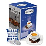 100-Cialde-Caffe-Barbaro-Miscela-Blu-Cremoso-napoli-carta-filtro-44-mm