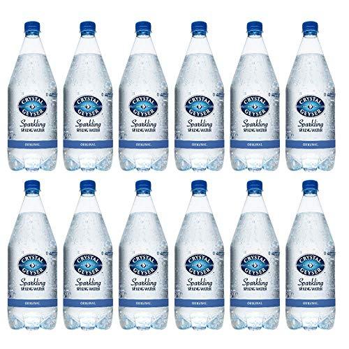 Crystal Geyser Sparkling Spring Water, Original, 1.25 Liter PET Bottles , No Artificial Ingredients, Sweeteners, Calorie Free (Pack of 12)