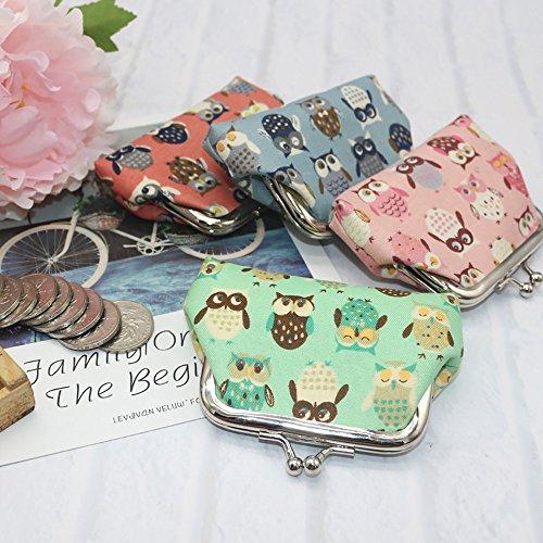 Monnaie Changement Porte Femmes Femmes Porte Cartes Monnaie Portefeuille Hibou Pochette Porte Portefeuille de Monnaie Green Porte Petit YUYOUG qU8qwAa