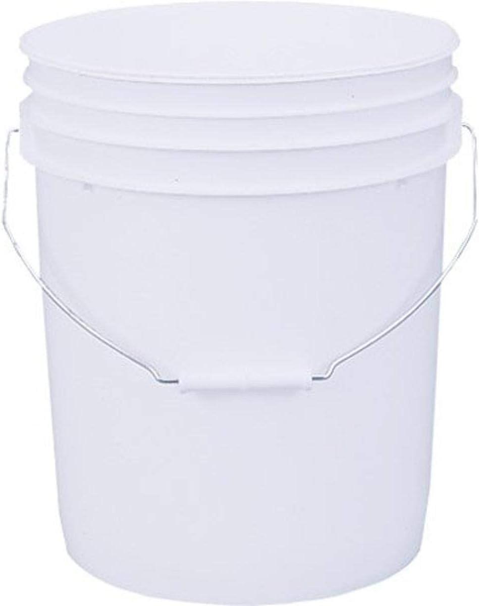 LEAKTITE 5GLSKD 5-Gallon lon White Plastic Pail