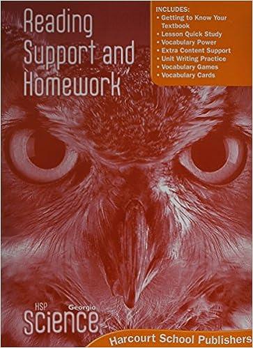 Harcourt School Publishers Science Georgia Ga Reading