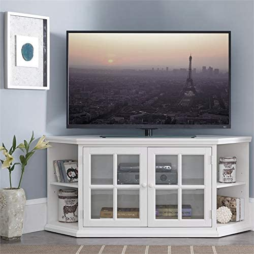 Beaumont Lane Corner Console TV Stand Entertainment Media Center
