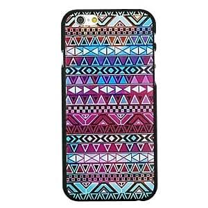 WQQ multicolor patrón de estilo folk pc caso duro para el iphone 6 más