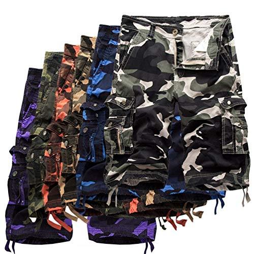 Multi 29 Mette Cargo Estate Di Esterni Camo Sacchetto Festivo Uomini Tattico Abbigliamento Gli ChinocolorViolettSize Svago Shorts Cotone 7gf6yb