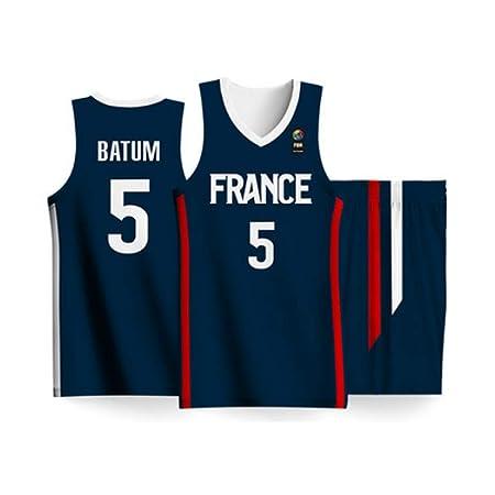 BALL-WHJ Nicolas Batum # 5 Jerseys De Baloncesto del Equipo De ...