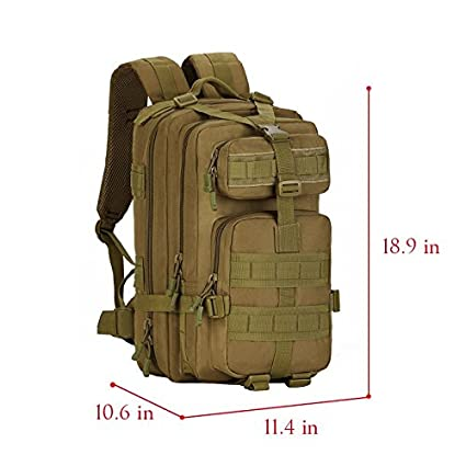 7c4aeb15ecc7 SUNVP Military MOLLE Backpack Rucksack Tactical Gear Bag 600D Nylon Large  Assault Pack For Hunting Camping Trekking Travel  Amazon.co.uk  Luggage