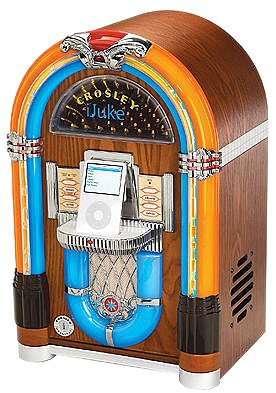 Ipod Jukebox - Crosley CR17 iJuke Mini Jukebox