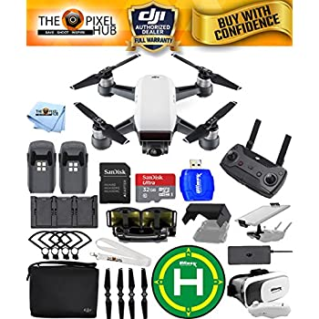 DJI Spark Fly More Combo EXTREME ACCESSORY BUNDLE With Landing Pad, 32GB Micro SD Card Plus Much More