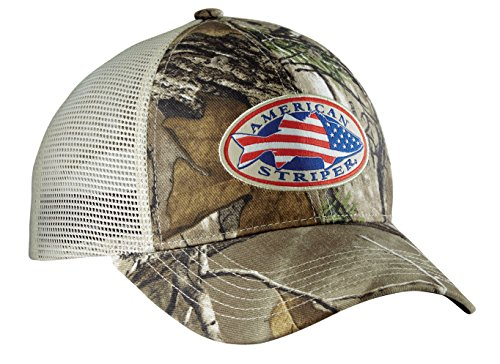 Flying Fisherman H1755 American Striper Camo Trucker - Hats Fisherman Flying