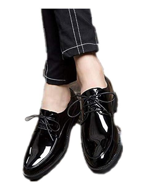 2d4cee36 Punk Style Zapatos Extra Grandes para Hombre 46 47 Tie Business Casual  Zapatos de Moda Patent de Cuero para Hombre, Color Negro, Talla 47 EU:  Amazon.es: ...