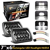 92 toyota pickup headlights - 2Pcs 5x7 Led Headlights 7x6 Led Sealed Beam Headlights with Osram Chips Angel Eyes DRL High Low Beam C4 Corvette H6054 6054 Led Headlight for Jeep Wrangler YJ Cherokee XJ H5054 H6054LL 6052 6053