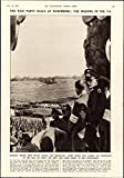 Nazi Party Rally Nuremberg military crowd 1934 vintage newsprint sheet paper