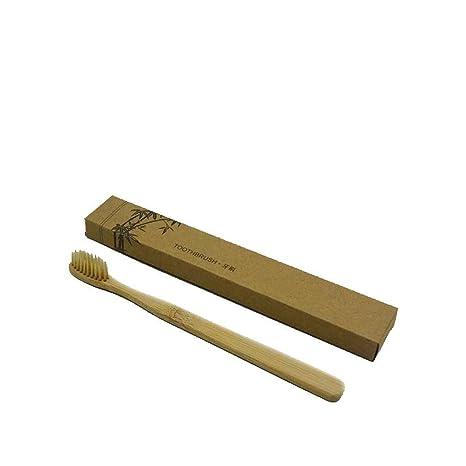 LUFA 1pc Cepillo de dientes de mango de bambú Nylon / afilar cerdas de alambre Cepillos