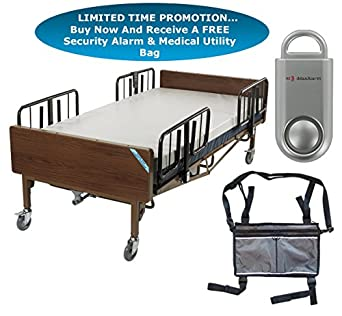 Drive Full Electric Heavy Duty Bariatric Hospital Bed, With 48u0026quot;  Bariatric Foam Mattress And