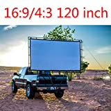 120 inch projector screen High-definition Screen Portable White Curtain pantalla proyector 16:9 4:3 HD simple projection screen