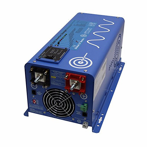 Aims Power 2000 Watt 12 VDC Pure Sine Inverter Charger w/6000W Surge