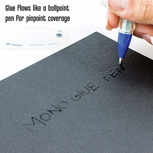 Tombow 62175 Mono Glue Pen, Clear, 1-Pack. Provides Pinpoint Application for Intricate Gluing of Die-Cuts, Glitter, and More