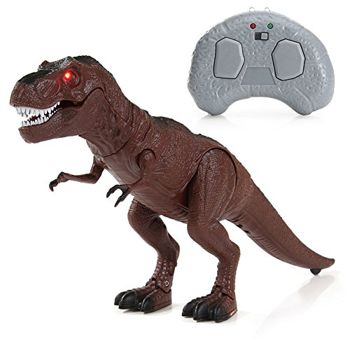 Ireav RC Dinosaur Toy,Remote Control Walking Dinosaur with Glowing Eyes, Life-Like Motion and Sounds Function ,Children's Birthday Gifts ()