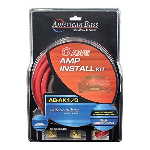 American Bass AK1/0 Amplifier Wiring Kit 0 Gauge American Bass ()