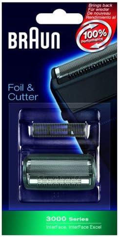 Braun 3000 Series afeitadora papel de aluminio y cortador Combi unidades: Amazon.es: Hogar