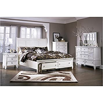 Amazoncom Ashley B672 Prentice King Storage 4 Pc Bedroom Set