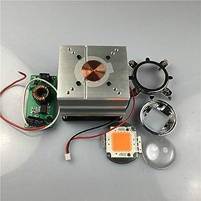 led world 50W 380-840nm Full Spectrum LED Plant Grow led lamp+DC12V 20-100W Heatsink 44mm lens kits+LED driver input 12-24V output 30-36v