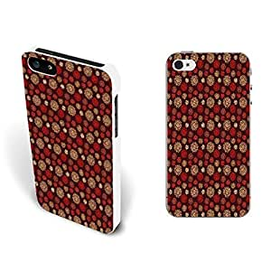 Floral Pattern Iphone Cases - Custom Design Girls Hard Plastic Case Cover Shell for Iphone 5 5s Flower Print Back Skin Protector (retro red flower BY654)