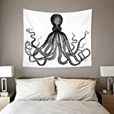 HAOCOO Starry Sky Pattern Wall Hanging Tapestry for Bedroom / Living Room / Dorm Accessories (60 x 80 Inch, Octopus)