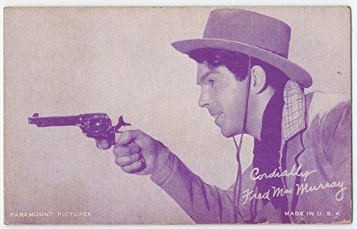 Exhibit Fred MacMurray Arcade Card: Purple Cowboy 1940s (22mm MADE IN U.S.A.) Series