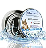 fibevon Flea and Tick Collar for Cats - Prevention and Control Fleas, Ticks and Pests for 8 Months - Hypoallergenic and Safe Design - 1 Size Fully Adjustable Waterproof Kitten Collar