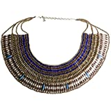 Arsimus Cleopatra Beaded Necklace Collar Choker Ancient Egyptian Queen Costume