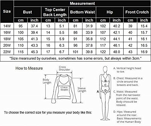 Women Plus Size Vintage Swimsuits High Waisted Bikinis Bathing Suits Retro Halter Underwired Top by IN'VOLAND (Image #6)