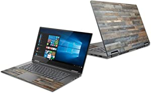 """MightySkins Skin Compatible with Lenovo Yoga 730 15"""" (2018) - Gray Wood 