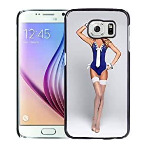 New Personalized Custom Designed For Samsung Galaxy S6 Phone Case For Candice Swanepoel with White Stockings Phone Case Cover