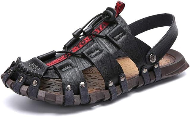 BINSHUN Men Shoes Sandals Beach Summer Outdoor Sport Casual Walking Fisherman Athletics Hiking Shoes Slippers Adjustable Belt