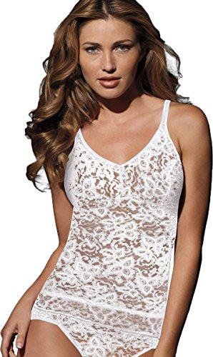 Bali Lace 'N Smooth Cami, White, Large