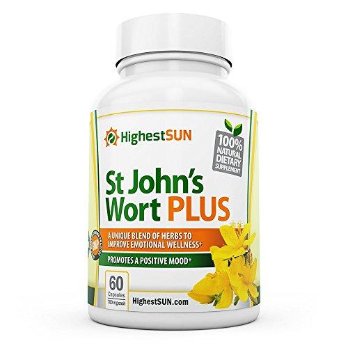 St Johns Wort PLUS 700mg 60 casquettes dont L-phénylalanine, Ginkgo biloba, extrait de millepertuis - soulage les symptômes de la dépression