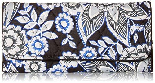 Vera Bradley Women's RFID Trifold Wallet, Snow Lotus, One Size