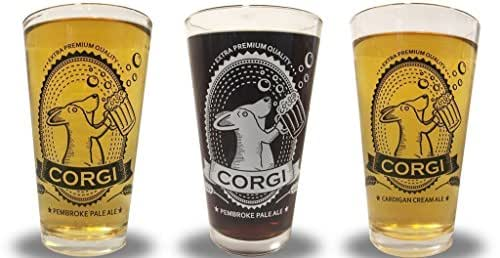 Corgi Pint Glass
