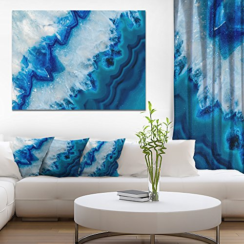 Geode Slice Macro Abstract Canvas art print by Design Art